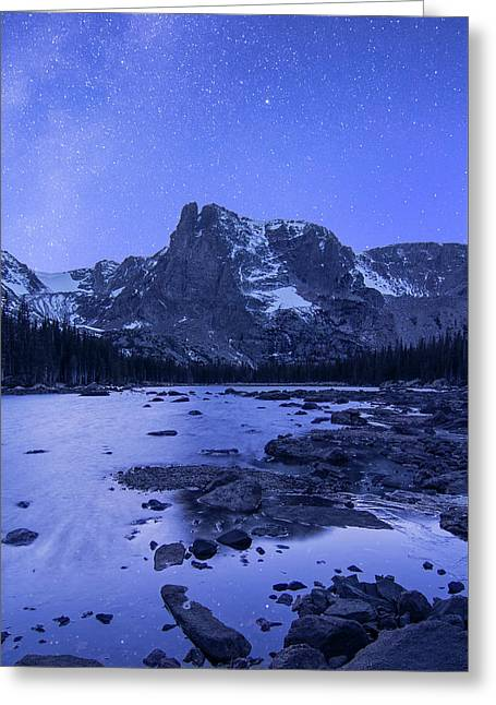 Greeting Card featuring the photograph Notchtop Night Vertical by Aaron Spong