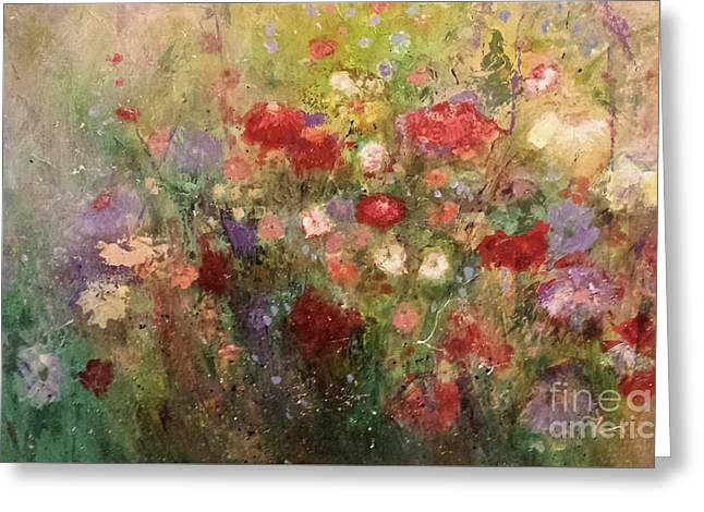 Nothing But Flowers Greeting Card by Frances Marino