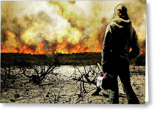 Nothing Left To Burn Greeting Card
