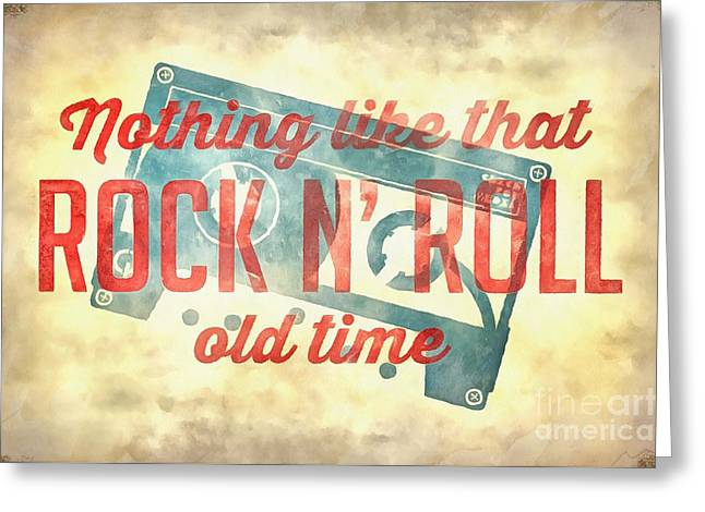 Nothing Like That Old Time Rock N Roll Wall Painting Greeting Card by Edward Fielding