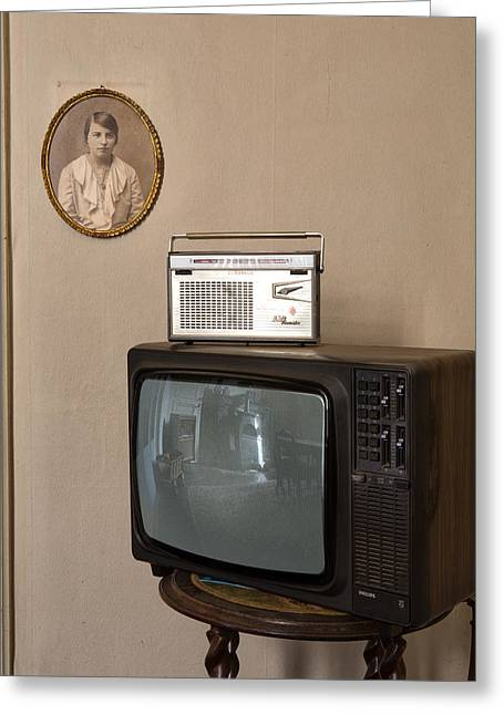nothing on TV but radio - abandoned building Greeting Card by Dirk Ercken