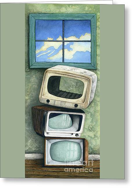 Nothing On Tv Greeting Card by James Stanley