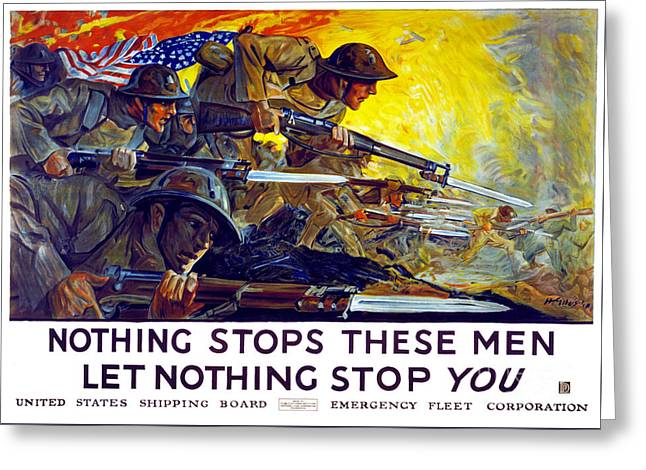 Nothing Stops These Men, Let Nothing Stop You Greeting Card by Carsten Reisinger
