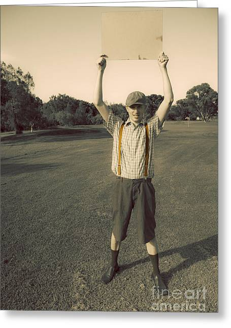 Notice Of Vintage Golfing Greeting Card by Jorgo Photography - Wall Art Gallery