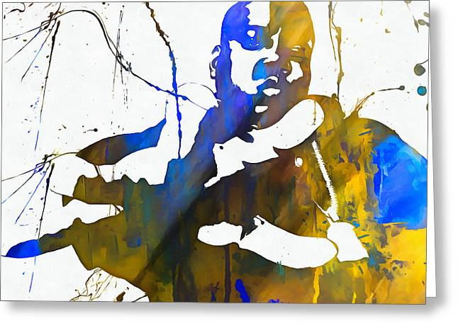Notorious Big Paint Splatter Greeting Card