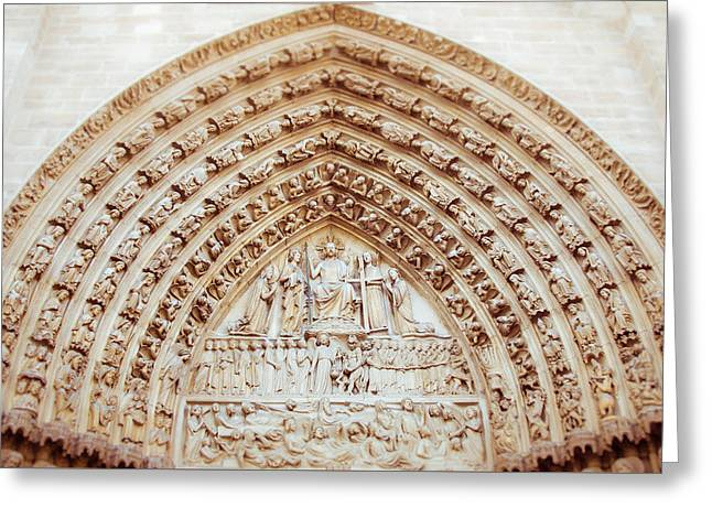 Notre Dame Cathedral Arch Greeting Card