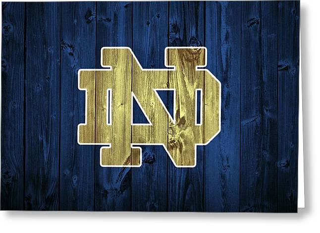 Notre Dame Barn Door Greeting Card