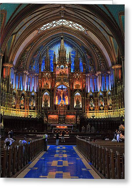 Notre Dame Basilica Montreal City Greeting Card by Pierre Leclerc Photography