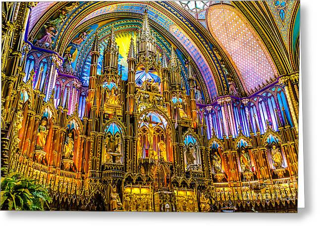 Notre Dame Basilica - Montreal Greeting Card