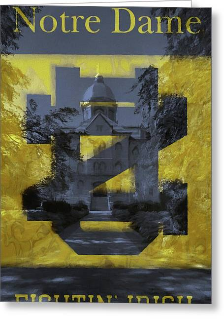Notre Dame Campus Flag Greeting Card