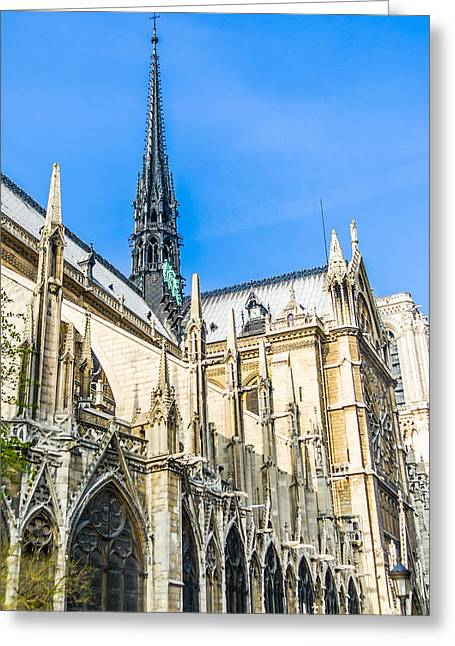 Notre Dame Cathedral - Gothic Architecture Greeting Card by Nila Newsom