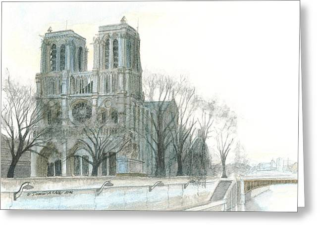 Notre Dame Cathedral In March Greeting Card