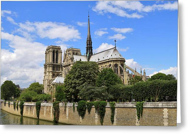 4th Greeting Cards - Notre Dame Cathedral in Paris Greeting Card by Louise Heusinkveld