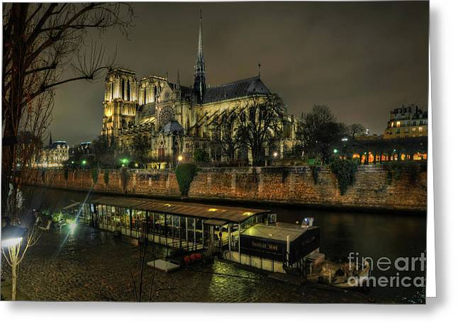 Notre Dame Cathedral Paris 1.0 Greeting Card