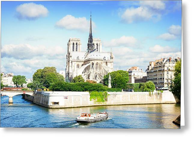 Notre Dame Cathedral, Paris France Greeting Card by Anastasy Yarmolovich