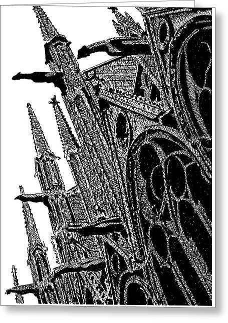 Notre Dame Cathedral, Paris, France. Greeting Card by Brian Keating