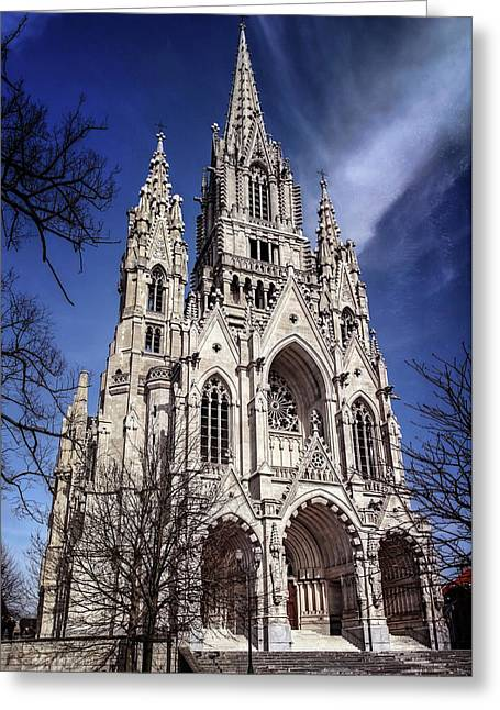 Greeting Card featuring the photograph Notre Dame De Laeken In Brussels  by Carol Japp