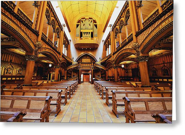 Notre Dame De Montreal Basilica Greeting Card by Mountain Dreams