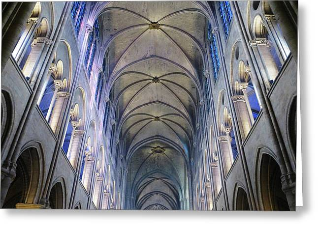 Notre Dame De Paris - A View From The Floor Greeting Card