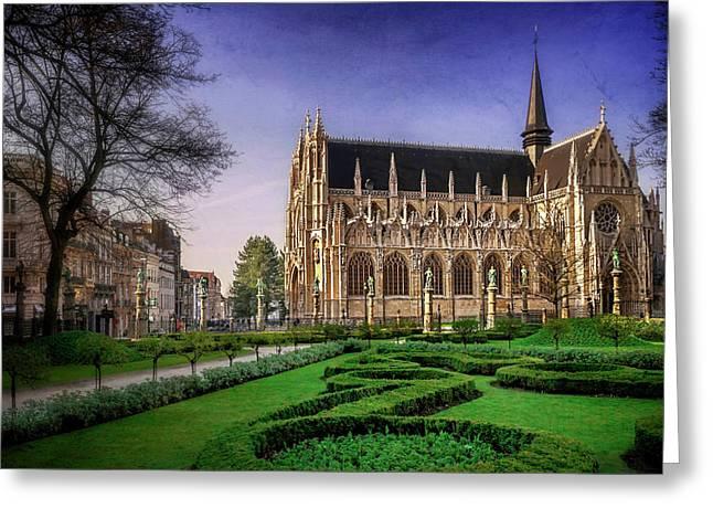 Notre Dame Du Sablon In Brussels  Greeting Card by Carol Japp