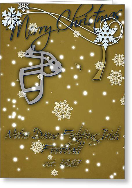Notre Dame Fighting Irish Christmas Card 2 Greeting Card by Joe Hamilton