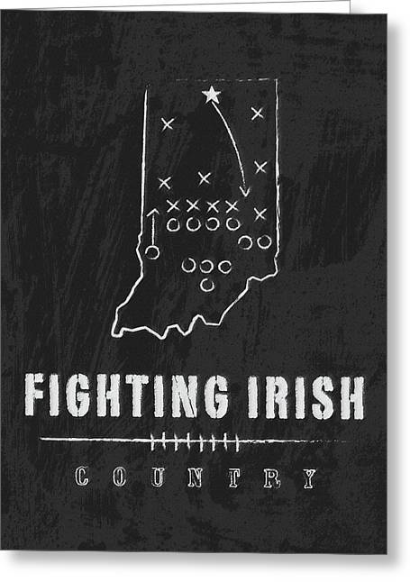 Notre Dame Fighting Irish Country Greeting Card by Damon Gray