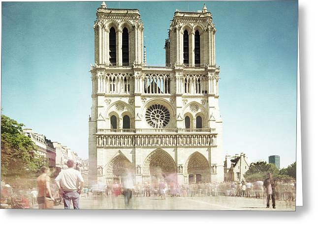 Greeting Card featuring the photograph Notre Dame by Hannes Cmarits