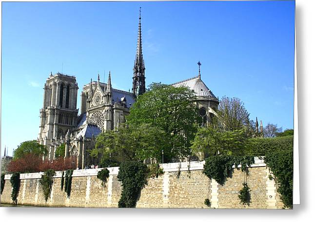 Notre Dame Greeting Card by Hans Jankowski