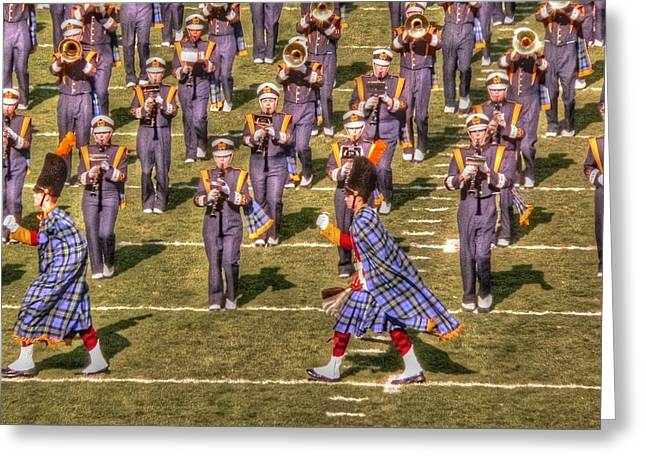 Notre Dame Marching Band Greeting Card by David Bearden