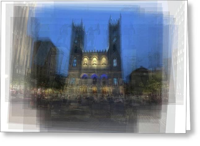 Notre-dame Basilica Montreal Greeting Card by Steve Socha
