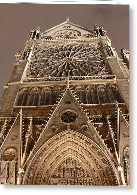 Greeting Card featuring the photograph Notre Dame North by Christopher Kirby