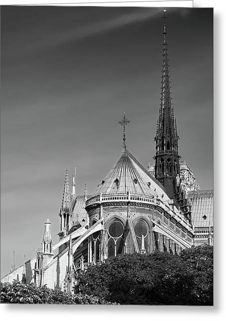 Greeting Card featuring the photograph Notre Dame, Paris, France. by Richard Goodrich