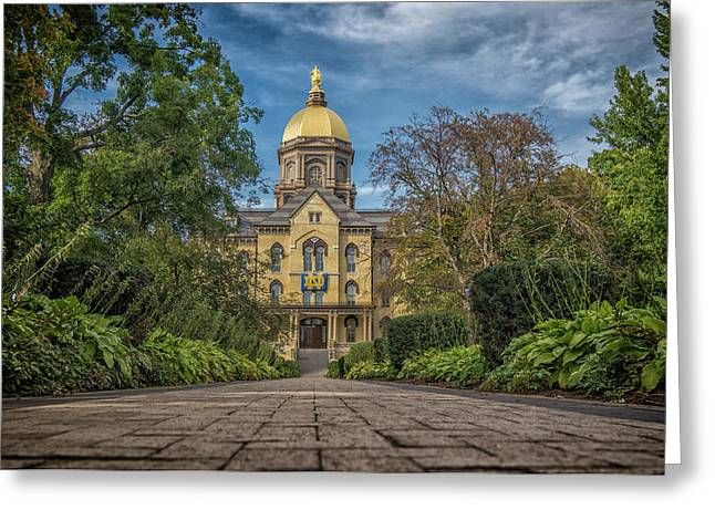 Notre Dame University Q1 Greeting Card by David Haskett