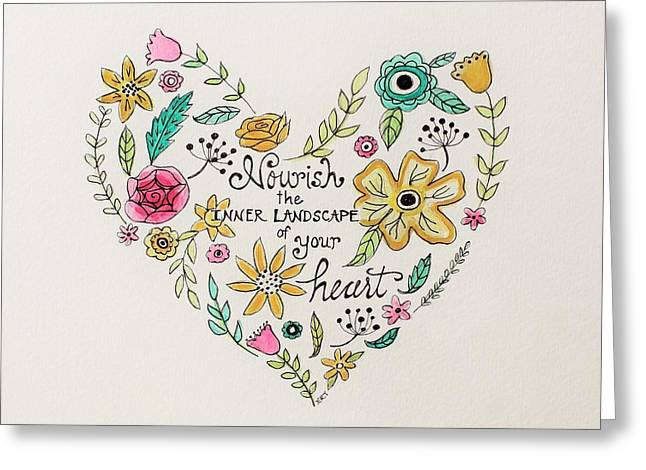 Nourish Greeting Card by Elizabeth Robinette Tyndall