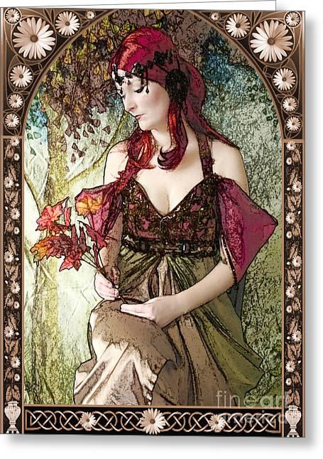 Nouveau Greeting Card by John Edwards