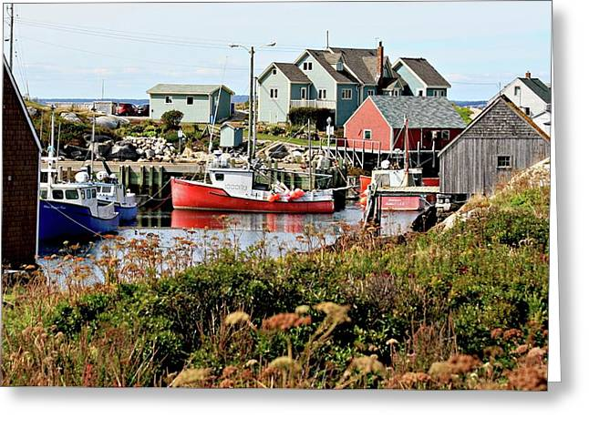 Nova Scotia Fishing Community Greeting Card