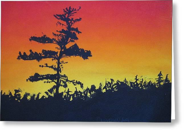 Nova Scotia Tree Greeting Card by Tabitha Marshall
