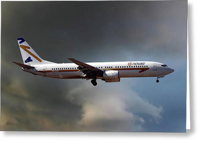 Novair Boeing 737-85f Greeting Card