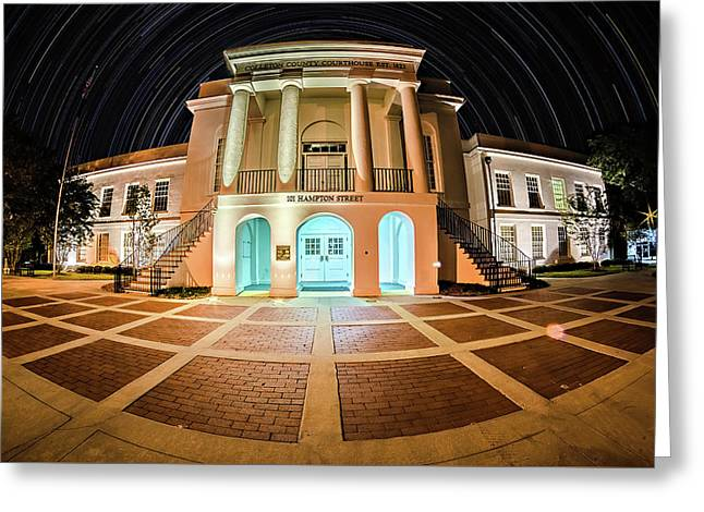 November 2016 Town Of Walterboro South Carolina Usa - Twon Of W Greeting Card by Alex Grichenko