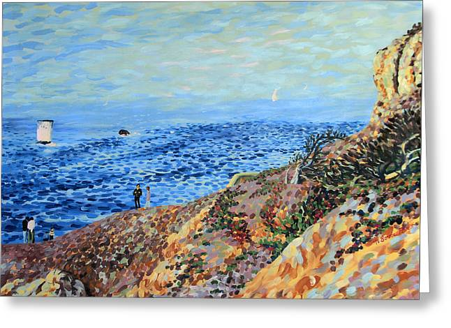 November Day At Point Lobos San Francisco Greeting Card