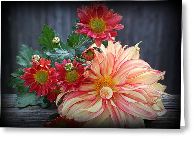 November  Flowers - Still Life Greeting Card by Dora Sofia Caputo Photographic Art and Design