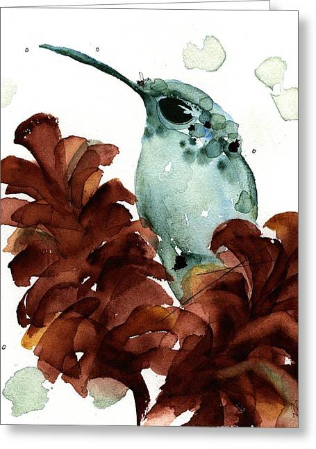 November Hummer Greeting Card