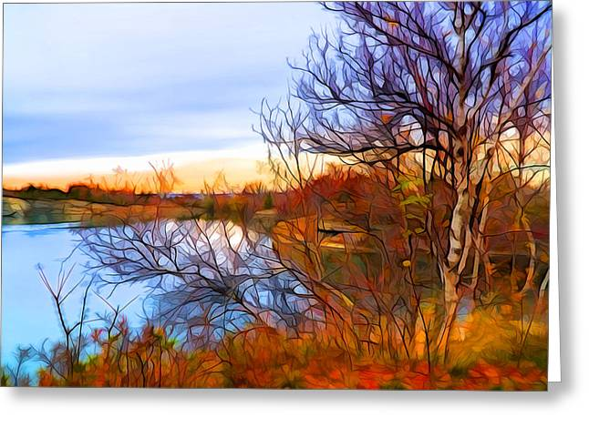 November Is Here Greeting Card by Lilia D