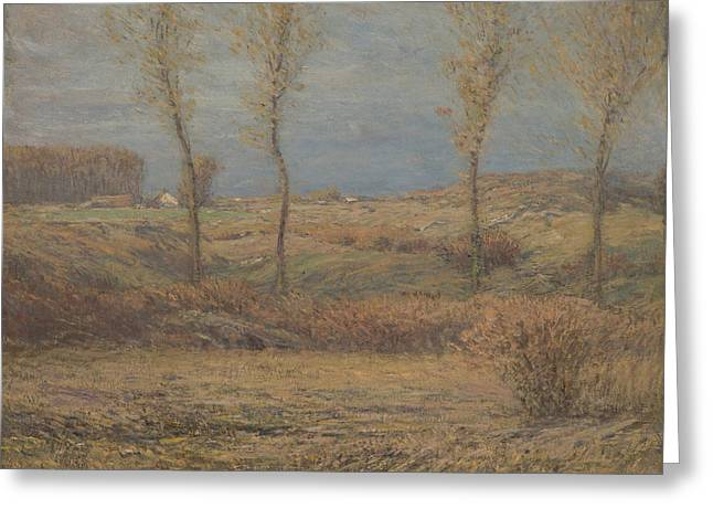 November Morning Greeting Card by Dwight William Tryon