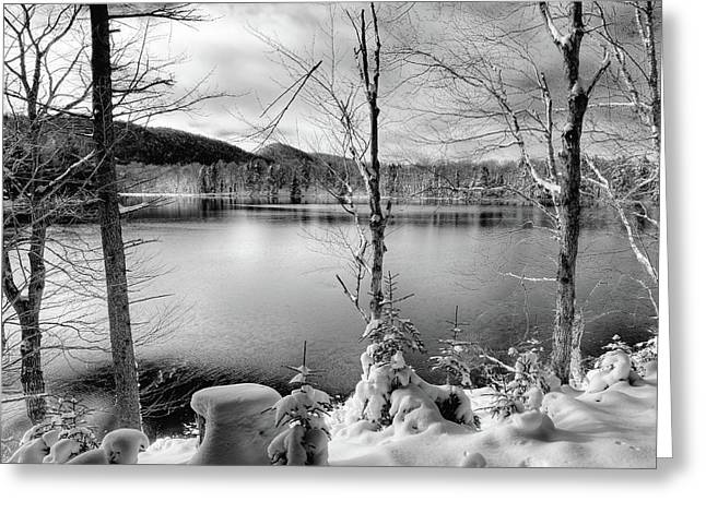 November On West Lake Greeting Card by David Patterson