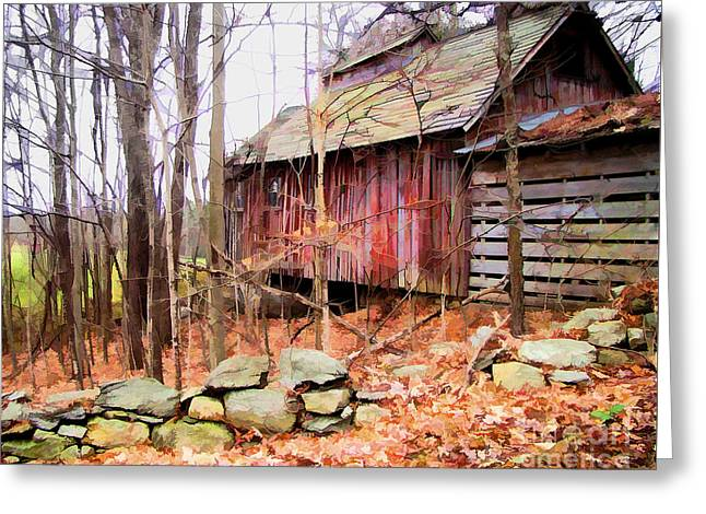 Greeting Card featuring the photograph November Stark by Betsy Zimmerli