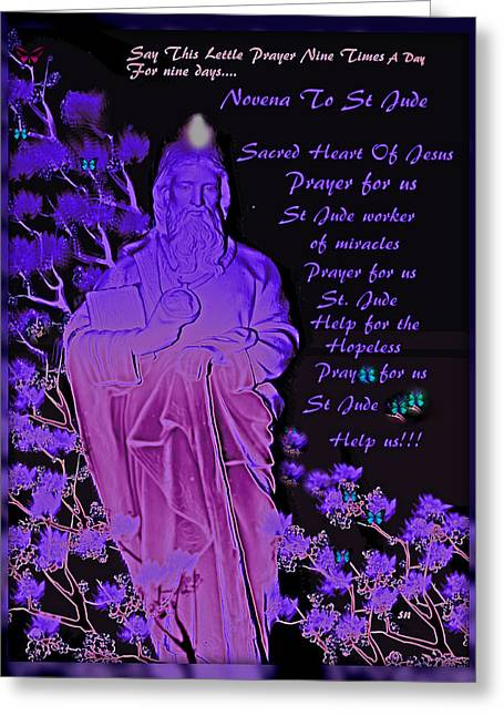Novena To St. Jude Greeting Card by Sherri's Of Palm Springs