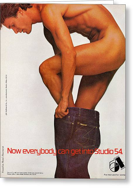 Now Everybody Can Get Into Studio 54 Greeting Card