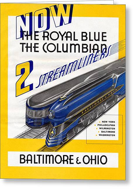 Now The Royal Blue The Columbian Greeting Card