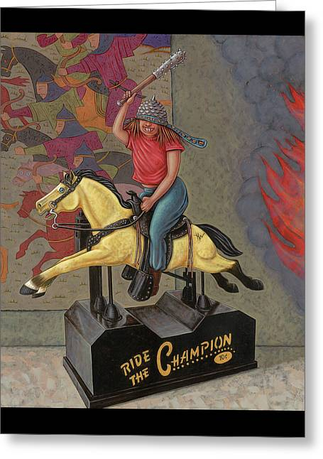 Now We Ride Greeting Card by Holly Wood
